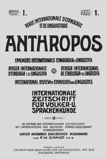 Anthropos Journal, Vol. 1 (1906)